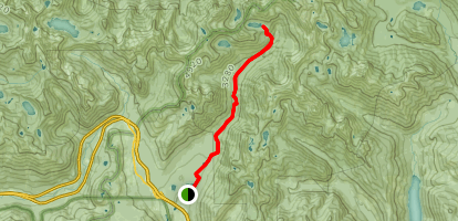 Gold Creek Trail to Joe Lake Map
