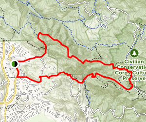 Green Valley to Wall Point Road Loop Map