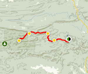Lake Sylvia to Crystal Prong Creek via Quachita Trail Map