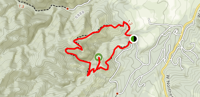 Devil's Canyon and Mace Trail Loop Map