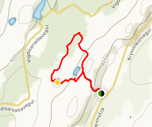 Krysuvik Geothermal Area Loop Map