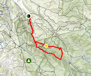 Stage Road and Castle Rock Loop Map