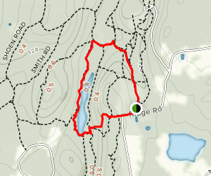 Cow Lane to Eastman Meadow Trail  Map