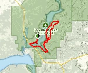 Greenleaf Trail (Lower and Middle Segments) Map