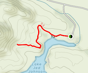 Jed Johnson Tower Trail to Central Peak Map