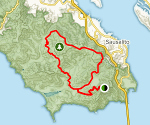 Rodeo Valley Trail To Miwok Trail Loop Via Coastal Trail Map