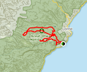 Lorne Waterfalls- Canyon and Castle Rock Map