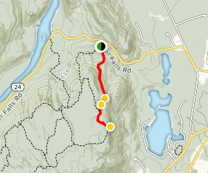 Baker Trail to Moreau Lake Overlook Map