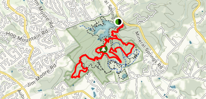 East Mulberry Equestrian and Ravine Loop Trail  Map