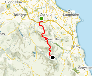 Wicklow Way: Marlay Park to Knockree Map