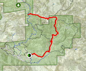 Gray Pine to Bald Mountain Map