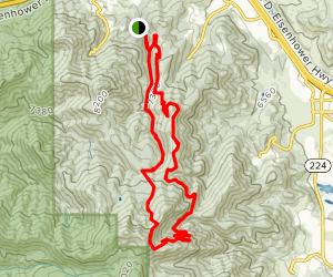 Toll Canyon and Mid Mountain Loop Map