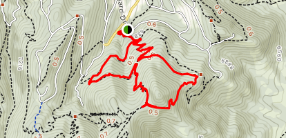 Spring Trail and Pinebrook to Mid Mountain Loop Map