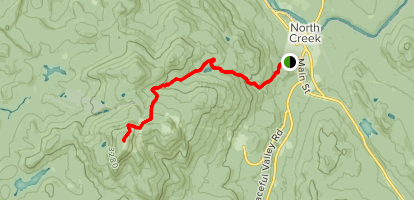 Gore Mountain via Schaefer Trail Map