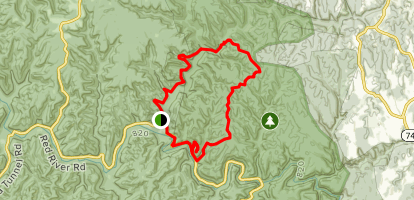 Bison Way, Sheltowee, Lost Branch, and Osborne Bend Trails Loop Map