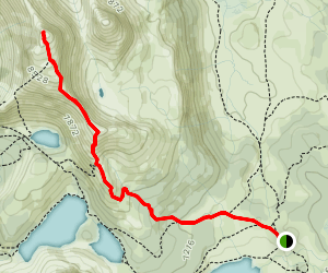 The Nub Peak from Mount Assiniboine Lodge Map