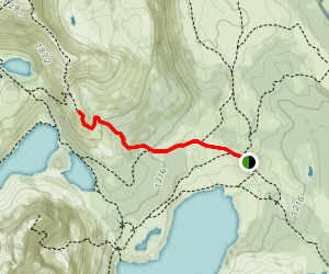 The Niblet from Mount Assiniboine Lodge Map