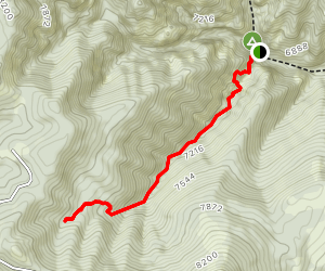 Maple Canyon Left Fork Map