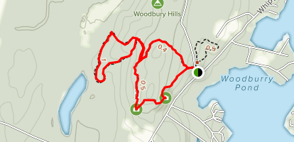 Woodbury Nature Sanctuary: White and Blue Trail Loops Map