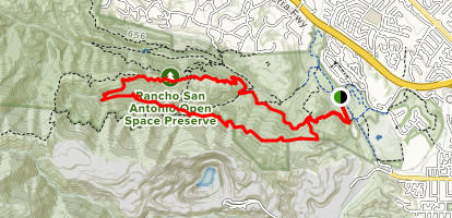 PG&E, Upper Wildcat, High Meadow and Coyote Trail Loop Map