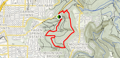 Wagon Trail and High Trail Loop Map