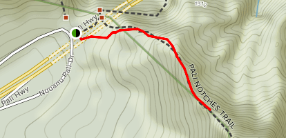 Pali Notches Trail [CLOSED / PRIVATE PROPERTY] Map