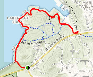 Red Bank to Brown's Ravine Trail Map