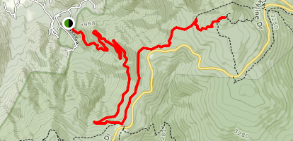 Hawksbill via Appalachian Trail and Redgate Road Map