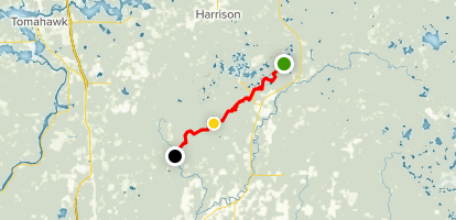 Ice Age Trail: Harrison Hills Section Map
