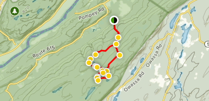 Buttermilk Falls and Crater Lake Loop Trail Map