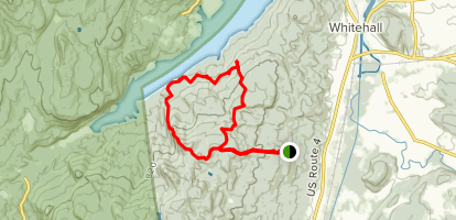 The Saddles State Forest Loop Map