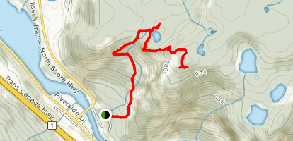 Humber Valley Trail (Man in the Mountain) Map
