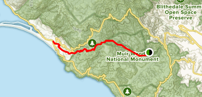 Dipsea Trail From Muir Woods To Stinson Beach Map