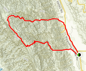 Mount Vaca Loop Via Gates and Mix Canyon Map