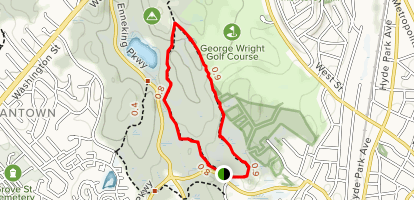 East Boundary Path and Stony Brook Path Loop Map