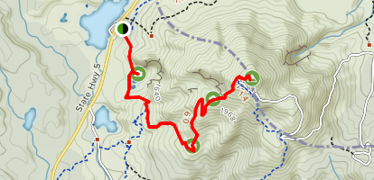 Rainbow Mountain and Crater Lake Outlook Track Map
