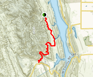 South Valley to Horsetooth Rock Trail Map