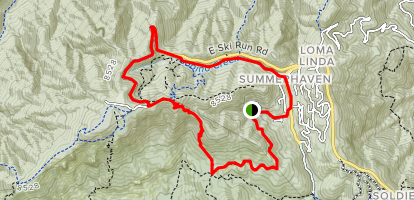 Mint Springs from Summerhaven Loop Map