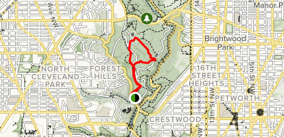 West Ridge Trail Loop Map