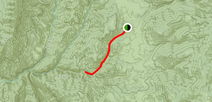 Fifth Water Hot Springs from Rays Valley Trailhead Map