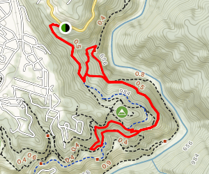 Robbie Point Firebreak and Riverview Trail Loop Map