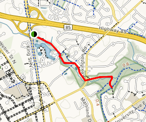 Forwell Trail to Hillside Reserve Map