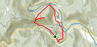 Mahican-Mohawk Trail to Indian Trail Loop Map