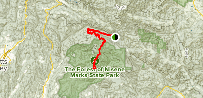 Bacon Trail and Pig Trail to Whites Lagoon Map
