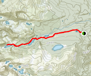 Lake Isabelle Trail (Winter) Map