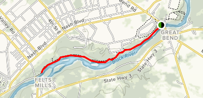 Black River Trail: Great Bend to Felts Mills Map