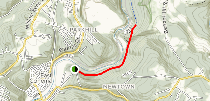 Path of the Flood Trail to Staple Bend Map