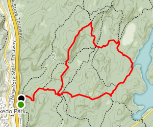 Tuxedo-Mount Ivy to Triangle Loop Map