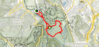 Redwood Grove Loop Trail and Cowell Highlights Loop Map