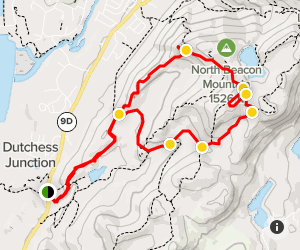 Mount Beacon via Notch Trail to Wilkinson Memorial Trail Map